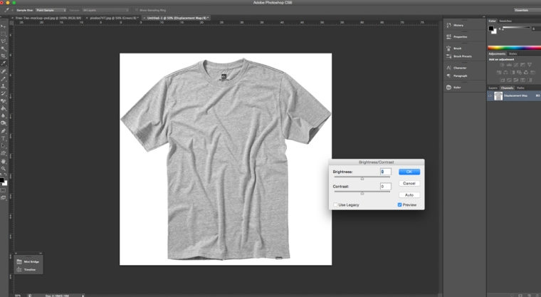 Adjusting the Brightness / Contrast in Photoshop
