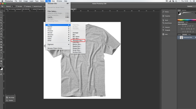 Applying Gaussian Blur In Photoshop