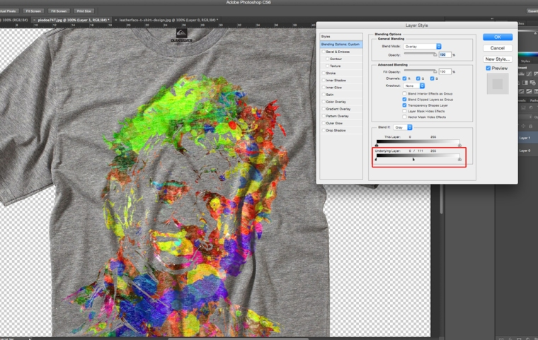 Adjusting the Layer Style Photoshop