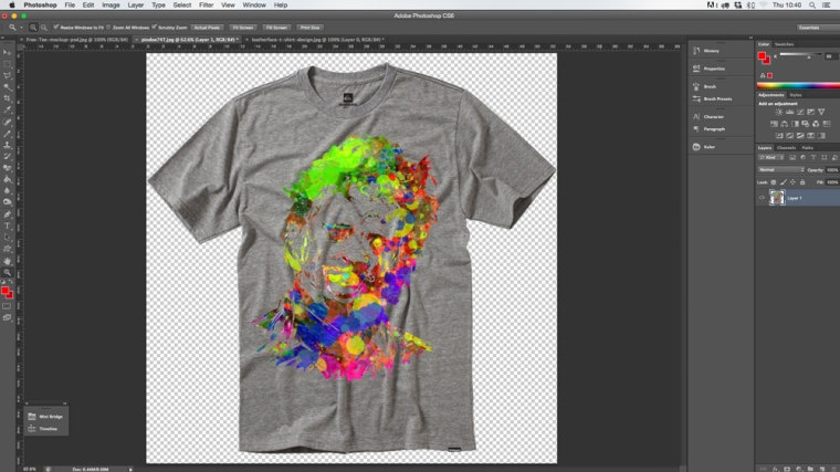 Overlaying Artwork in Photoshop